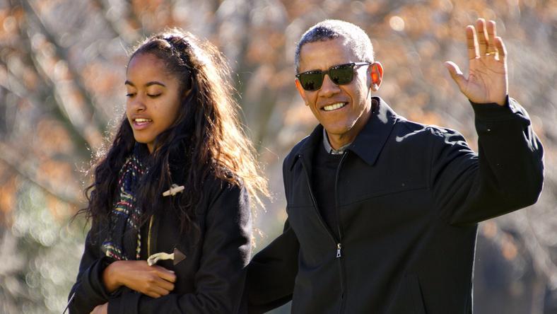 Malia Obama és apja Barack Obama /Fotó: Northfoto
