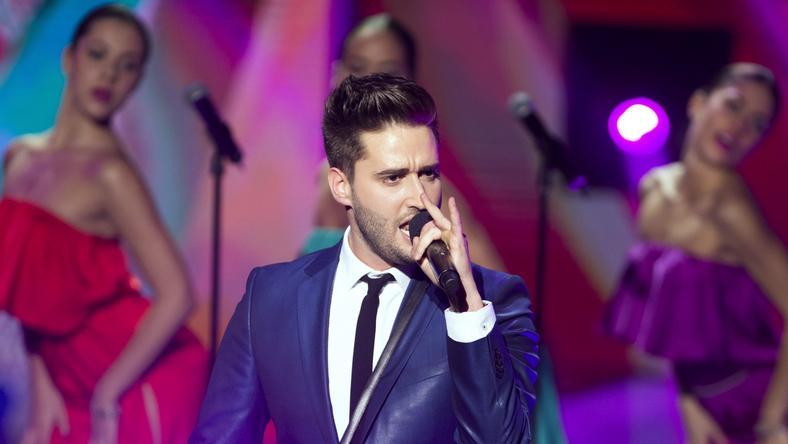 Király Viktor múlt szombaton fellépett A Dal színpadán / Fotó: MTI - Koszticsák Szilárd