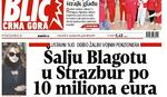 """""""Blic Crna Gora"""": Šalju Blagotu u Strazbur za dug od 10 miliona eura"""