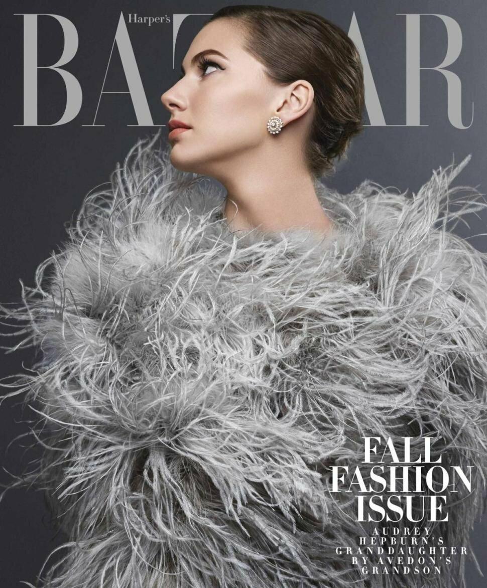 Emma Ferrer w Harper's Bazaar - foto: Michael Avedon