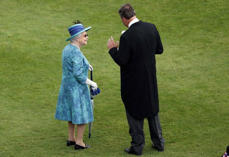 Úgy tűnt, Erzsébet remek kedvében van / Fotó: MTI - Frank Augstein