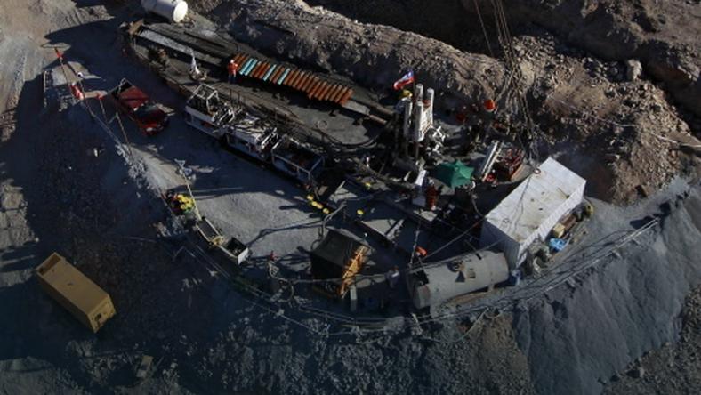 Kopalnia w której są uwięzieni górnicy, fot. AFP