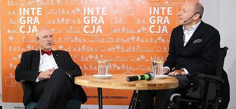 Janusz Korwin-Mikke odporny na argumenty prezesa Integracji