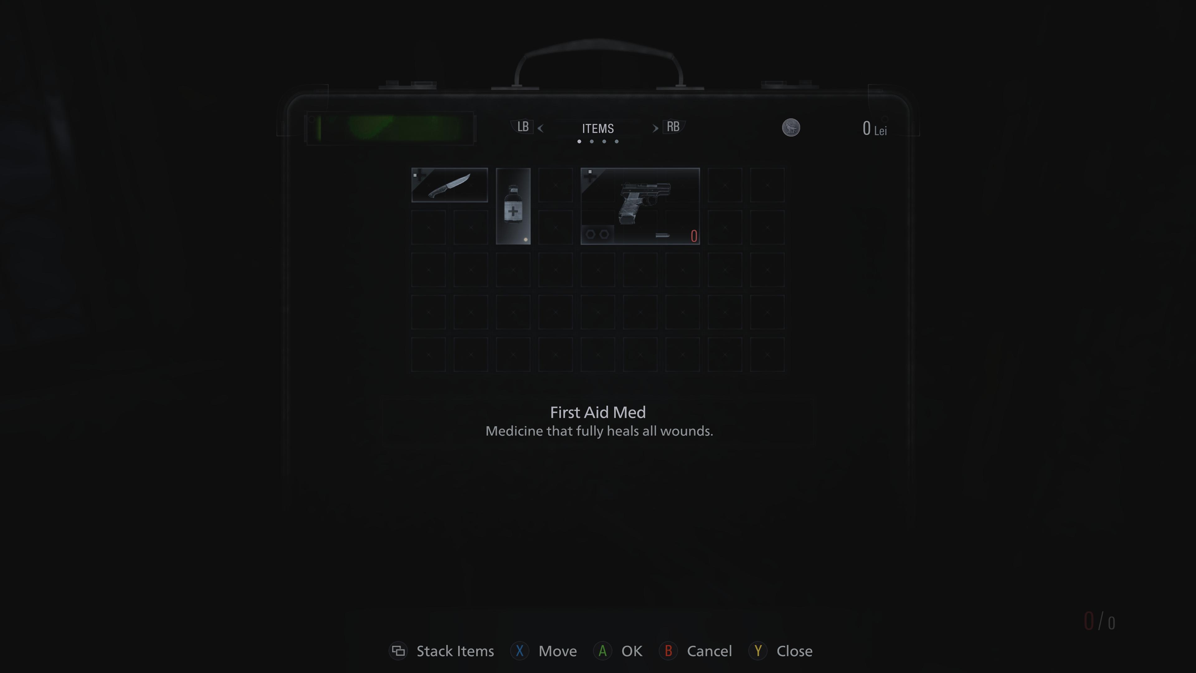 Kufrík slúži ako inventár, v ktorom si môžeš odložiť zbrane či iné vybavenie.