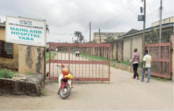 Entrance of Mainland Hospital Yaba (Daily Trust)