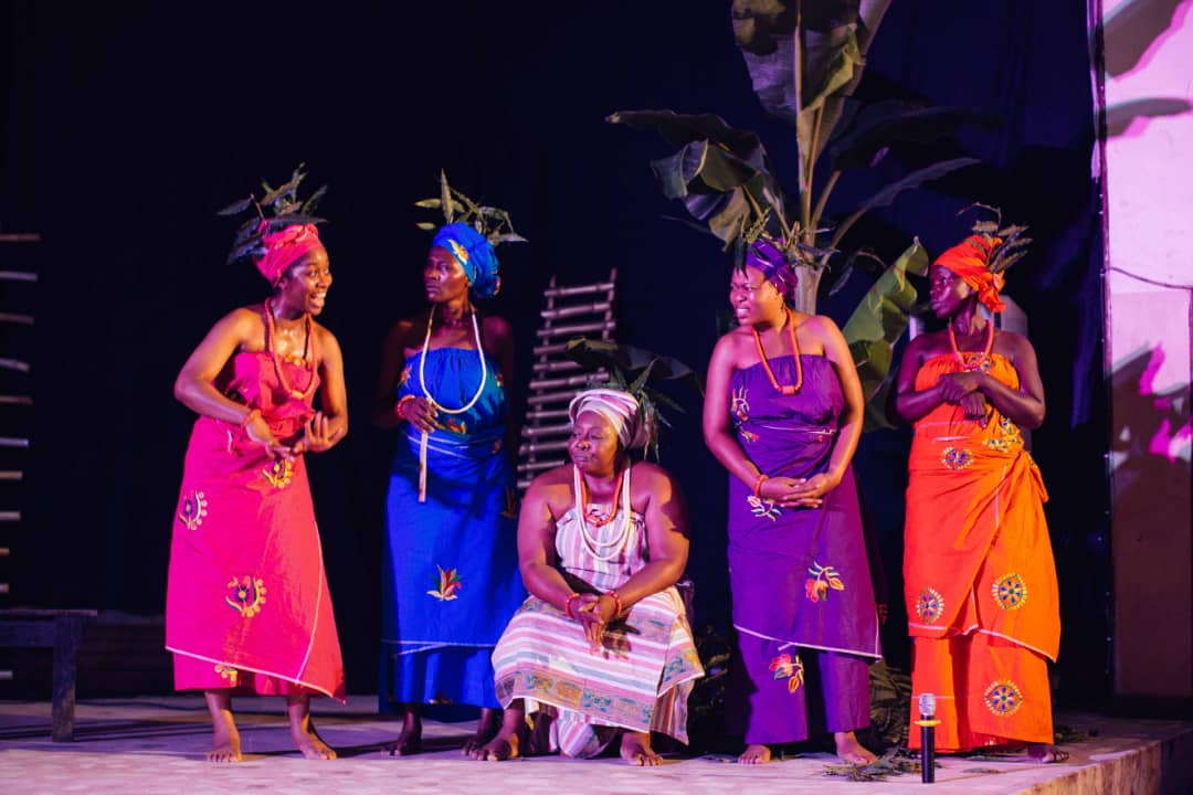 Residents and indigenes of Aba watched the re-enactment of the incident of 1929 in the stage play, 'August Meeting'.