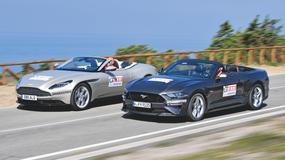 Aston Martin DB11 Volante i Ford Mustang Convertible - Anglia kontra Ameryka