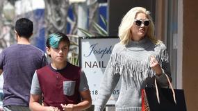 Gwen Stefani z synem poszła do salonu piękności. Podobny do znanej mamy?