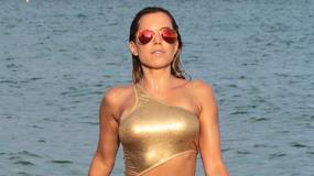 Sylvie Meis w złotym bikini. Ależ ona ma ciało!