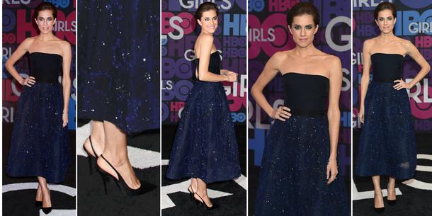 Best look: Allison Williams w Monique Lhuillier