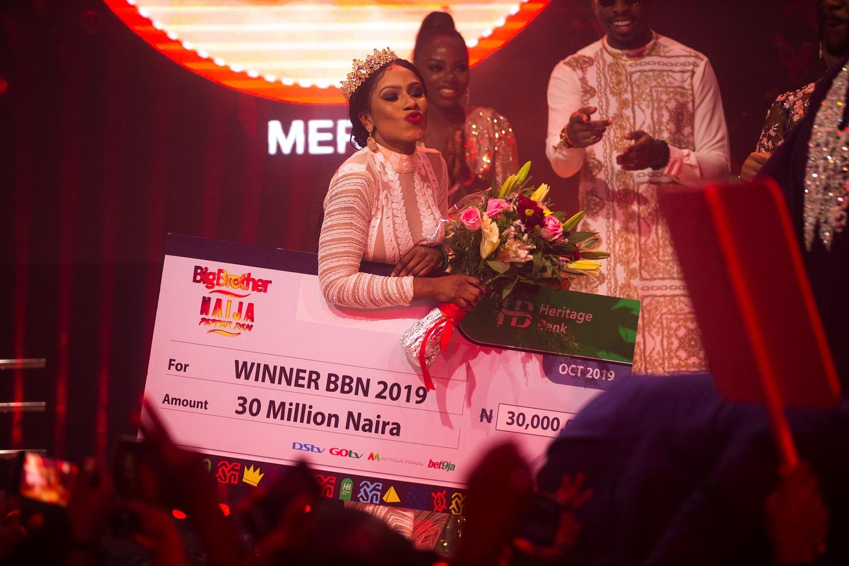 d0963cebc1fcb2081692f257d0b12528 - BBNaija's winner, Mercy gets house gift [Video]
