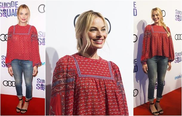 Best Look: Margot Robbie w bluzce Ulli Johnson