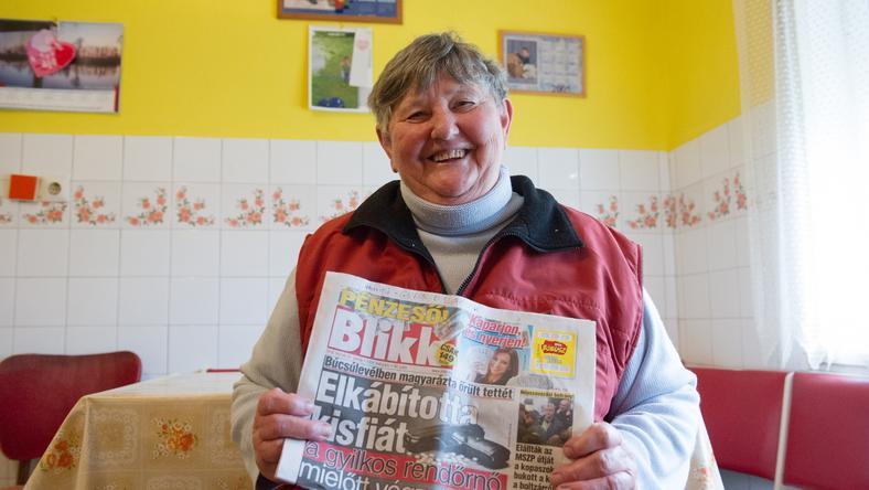 Hábelné Gizella 18 éve olvassa a Blikket: most 25 ezer forintot kapart / Fotó: Bordás Mátyás
