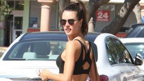 Alessandra Ambrosio, jej idealna figura i płaski brzuch w drodze na siłownię