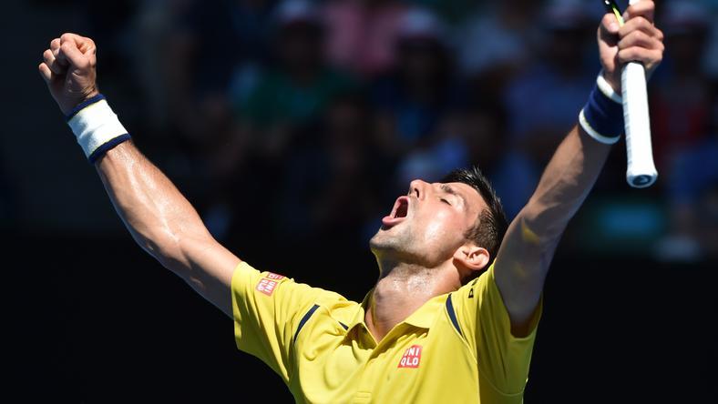 Djokovics megkönnyebbült, ezt megúszta /Fotó: AFP