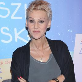 Agnieszka Chylińska na premierze swojej książki