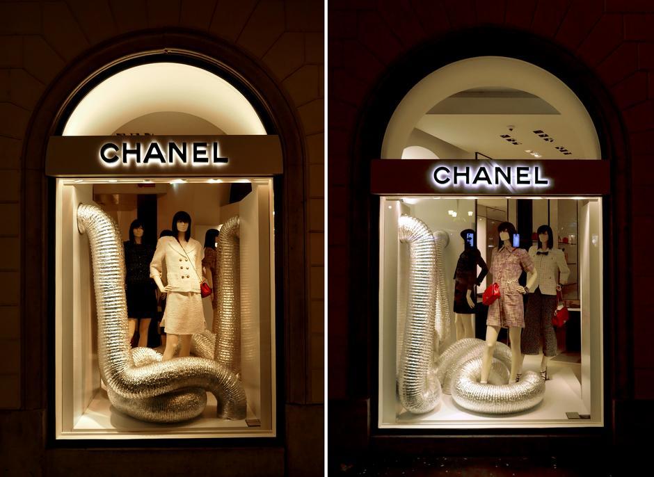 Butik Chanel przy Via dei Condotti i na Placu Hiszpańskim w Rzymie
