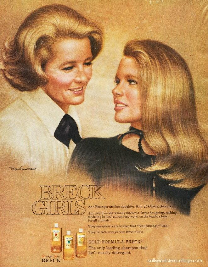 Kim Basinger z matką w reklamie szamponu Breck, 1971 r.