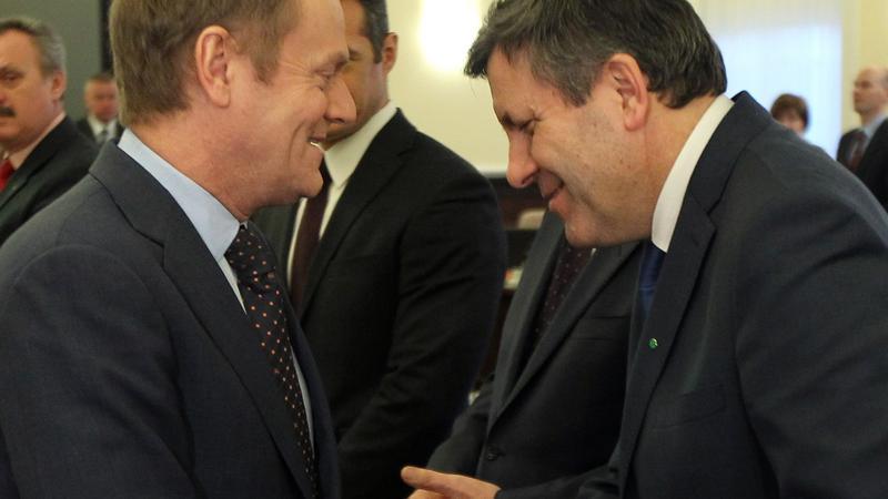Donald Tusk i Janusz Piechociński, fot. PAP/Radek Pietruszka
