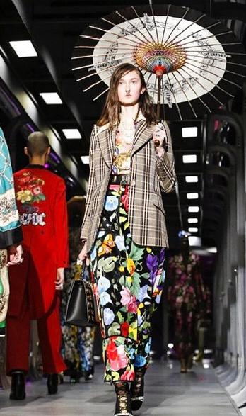 Klementyna Dmowska na pokazie Gucci