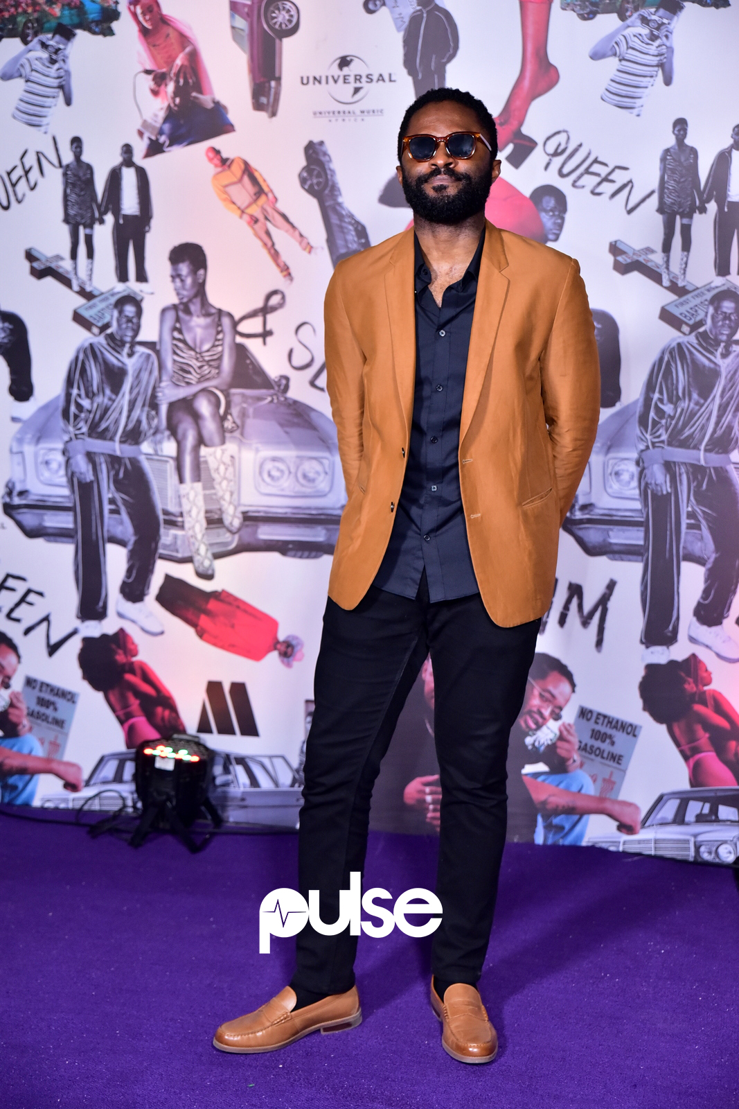 Nollywood actor Ozzy Agu at the 'Queen and Slim' premiere [ Pulse]