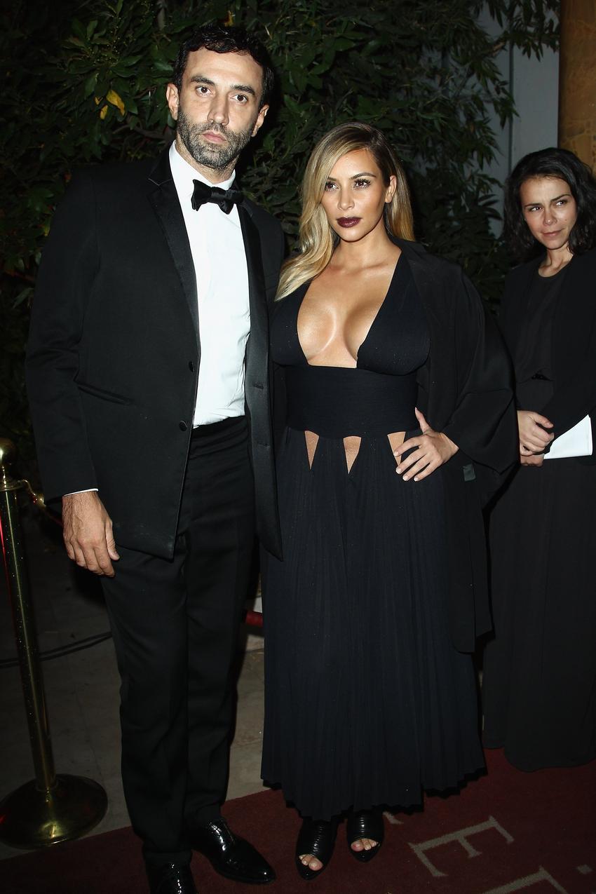 Riccardo Tisci i Kim Kardashian / Getty Images