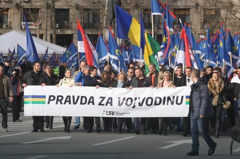 Protestna šetnja u organizaciji LSV