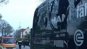 Atak na autokar Borussii, mecz odwołany. Zdjęcia z Dortmundu
