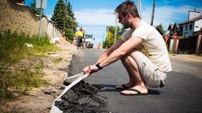 Zwijany asfalt w Olkuszu