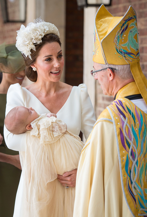 Lajos herceg keresztelőjén még látszott a fáradtság a hercegnén.