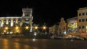 Polska - Bielsko-Biała nocą