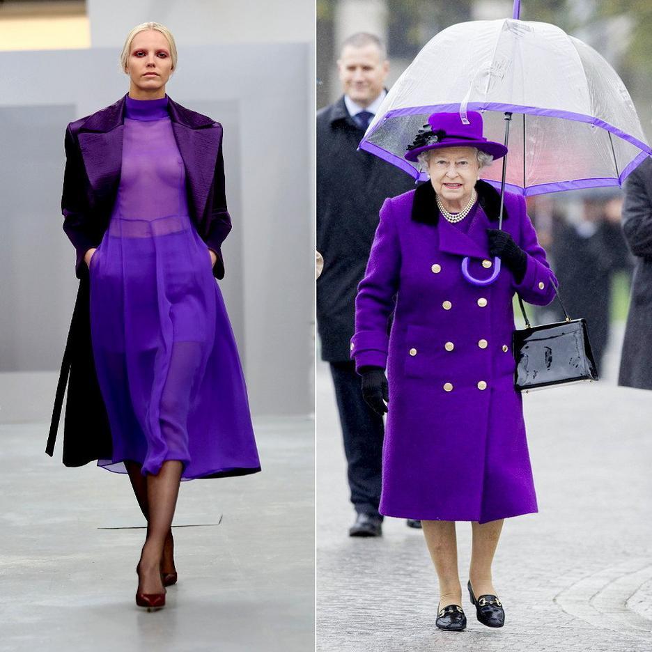 Fioletowy płaszcz Elżbiety II / Barbara Casasola
