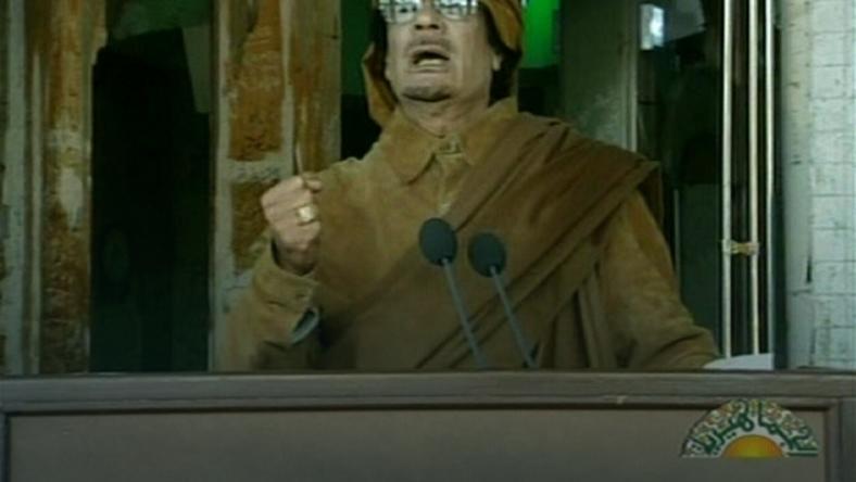 Muammar Kaddafi, fot. AFP