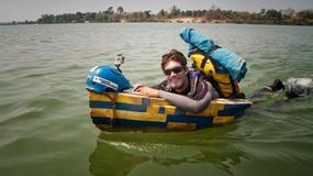 Francuz Remi Camus kończy samotny spływ Mekongiem na desce hydrospeed