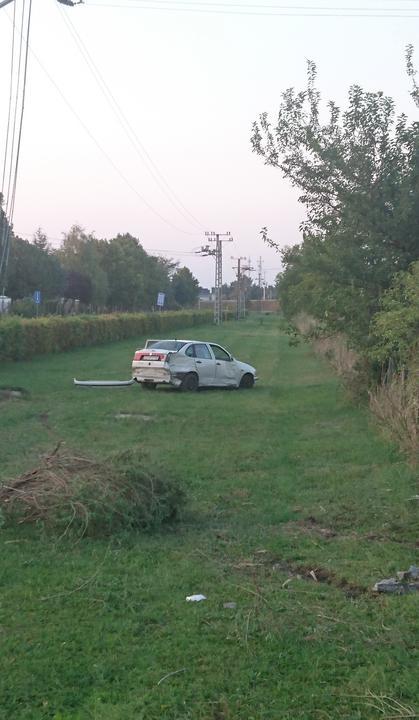 Itt állt meg az autó a gázolás után /Fotó: Blikk