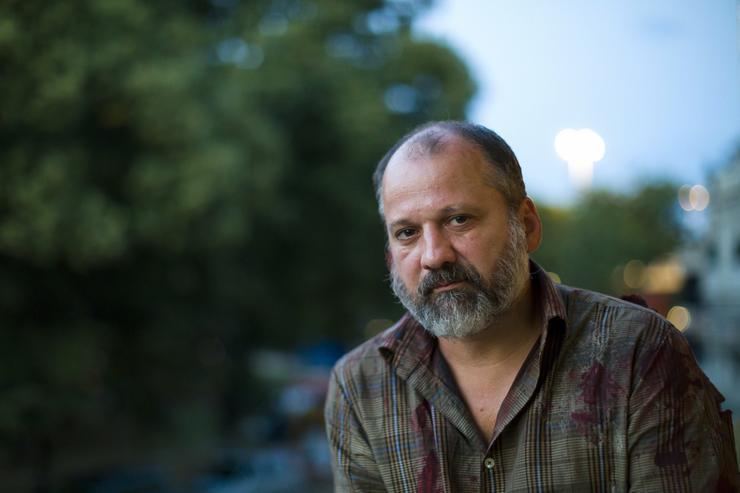 Thuróczy Szabolcs színész Géczy Dávid első nagyjátékfilmje, a Game Over Club forgatásán a budapesti Rácz Fürdőben 2018. augusztus 18-án/Fotó: MTI-Mohai Balázs