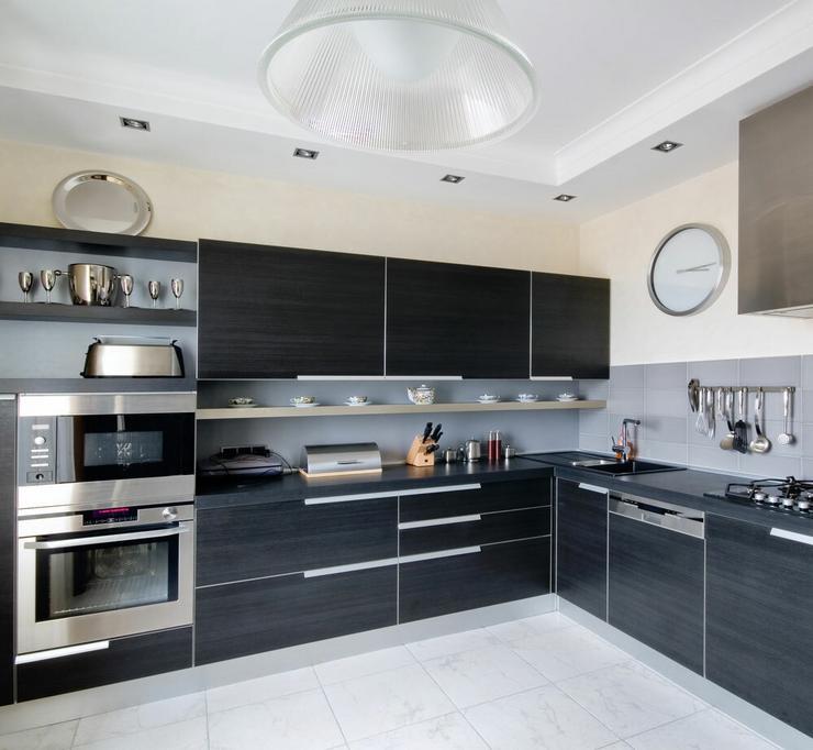 Czarna kuchnia  Dom -> Kuchnia Jasno Czarna