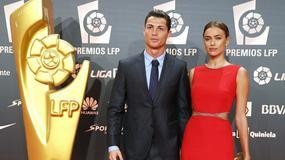 Cristiano Ronaldo odebrał LFP Awards, towarzyszyła mu zjawiskowa Irina Szejk
