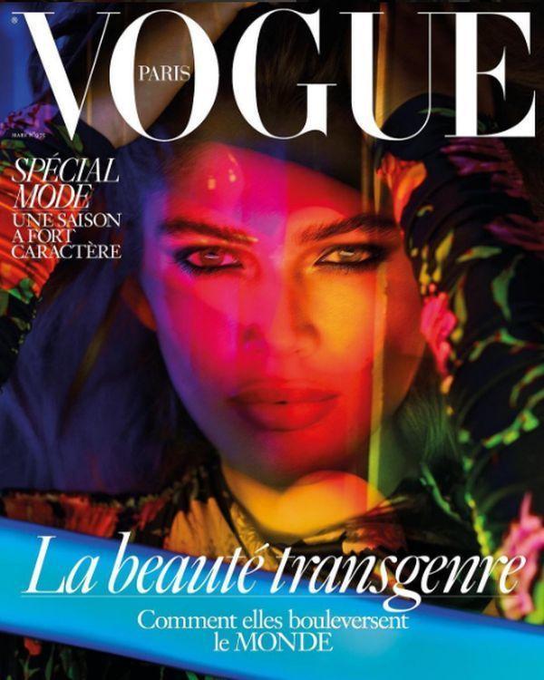 "Valentina Sampaio na okładce ""Vogue'a"""