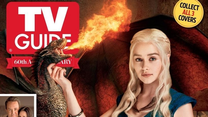"Daenerys Targaryen z ""Gry o tron"" na okładce magazynu TV Guide"