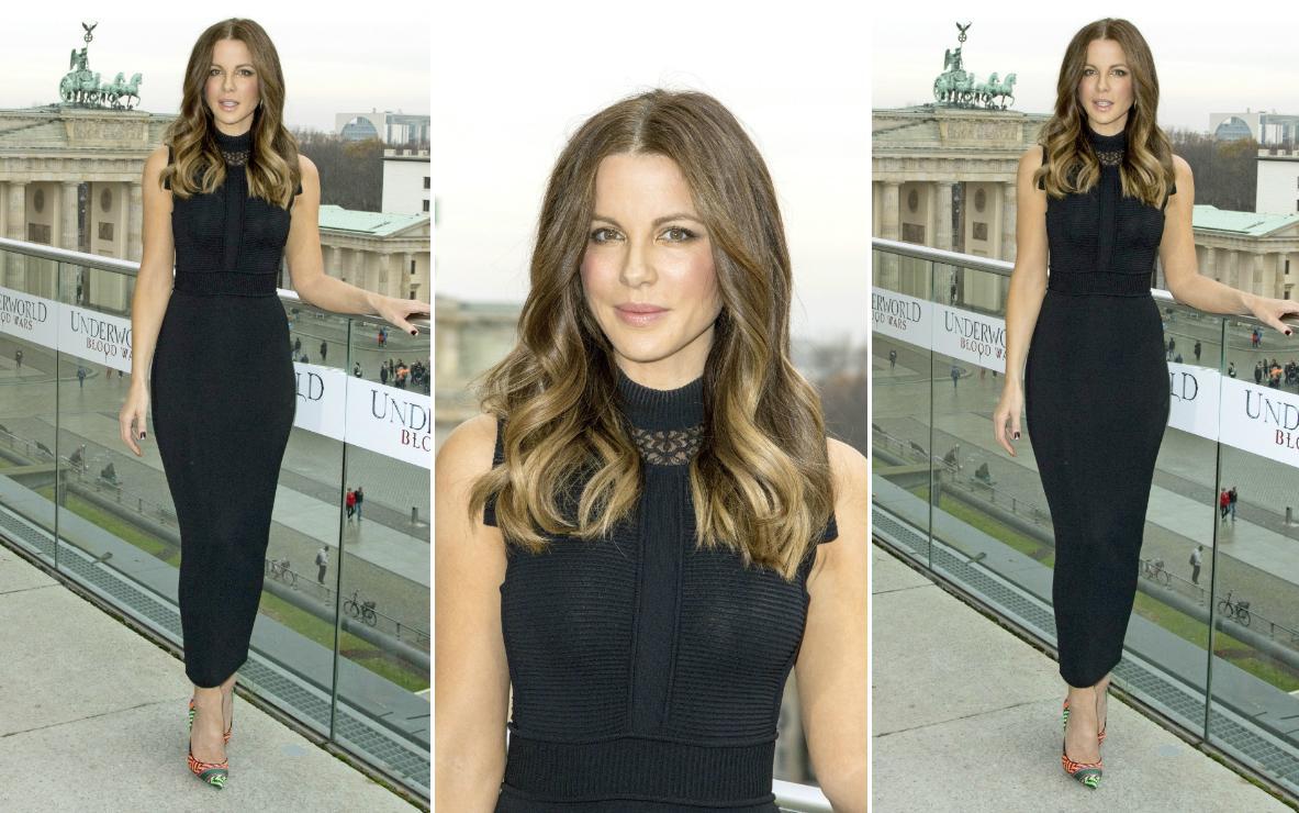 Kate Beckinsale w czarnej sukience