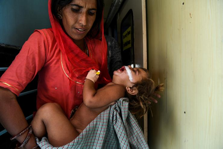 Már közel három évtizede üzemel ez a vonat kórház /Fotó: AFP