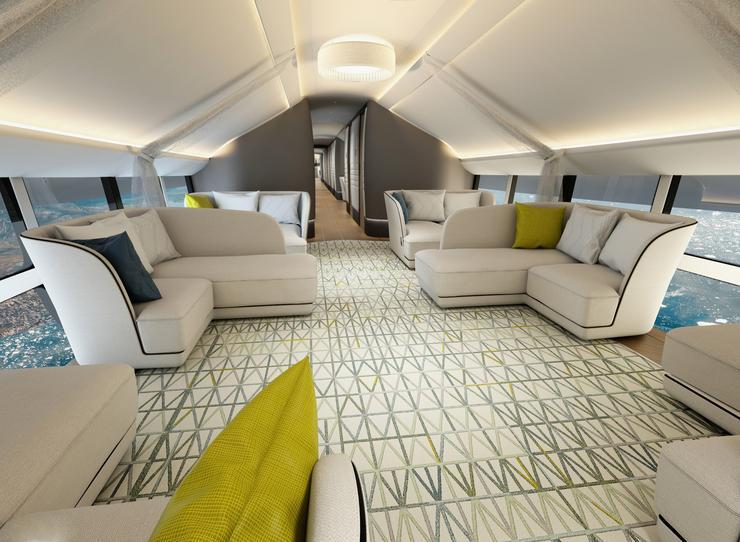 A belső terek kialakításából is érződik, a léghajóval leginkább a pénzes turistákat akarják majd megfogni /Fotó: Profmedia Reddot