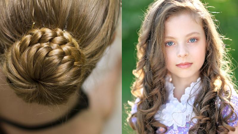 Прически детские на выпускной 2017-2018 на длинные волосы