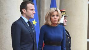 Brigitte Macron odsłoniła nogi na oficjalnym spotkaniu