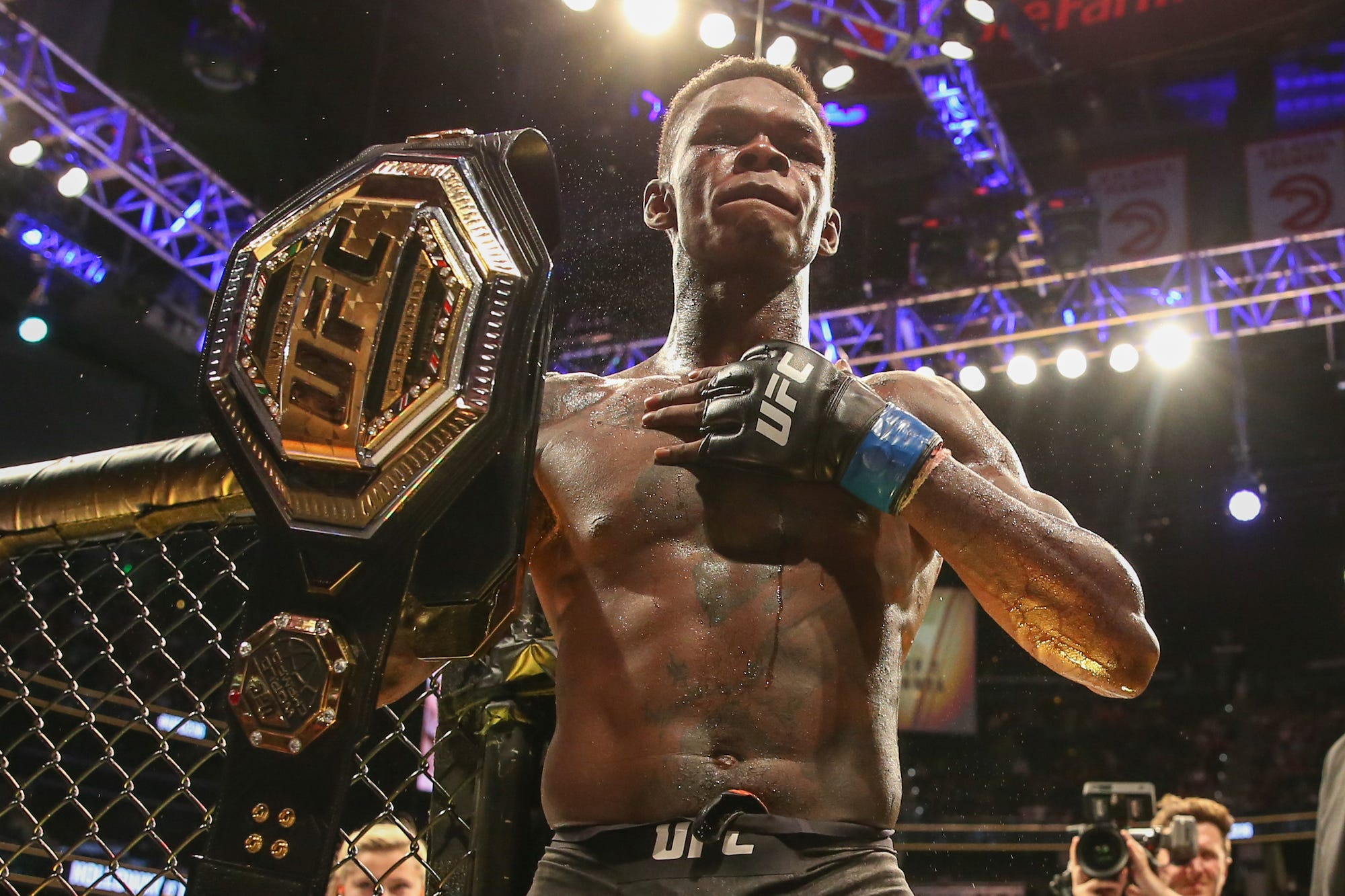 Israel Adesanya is currently the biggest showman in the UFC