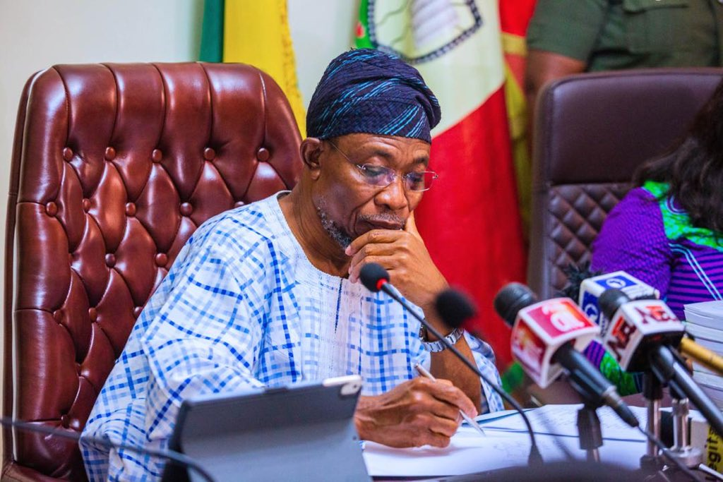 The Minister of Interior, Ogbeni Rauf Aregbesola heads the commitee set up to liaise with the US government on Visa restriction. [twitter/@raufaregbesola]