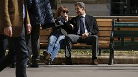 Carla Bruni i Nicolas Sarkozy niczym para nastolatków