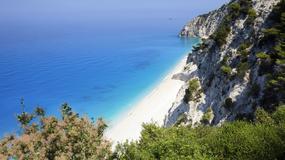 Trzęsienie ziemi zniszczyło popularną plażę Egremni na wyspie Lefkada