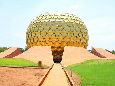 Matrimandir, miejsce modlitw w Auroville